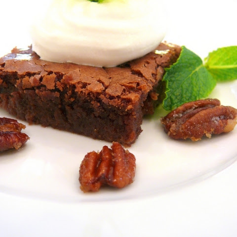 Mint Julep Brownies with Candied Pecans