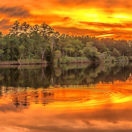Sky of fire by Matthew Molt - Landscapes Sunsets & Sunrises ( water, clouds, sky, nature, sunset,  )