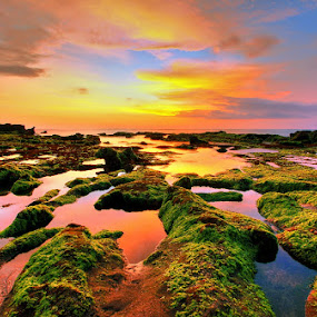 Sunset at Mengening by Alit  Apriyana - Landscapes Waterscapes