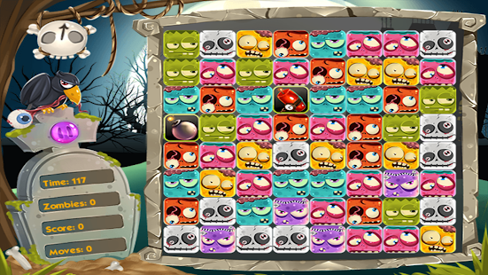 Zombie Gems match - screenshot