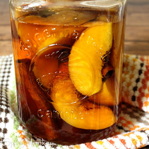 How to Make Peach Bourbon