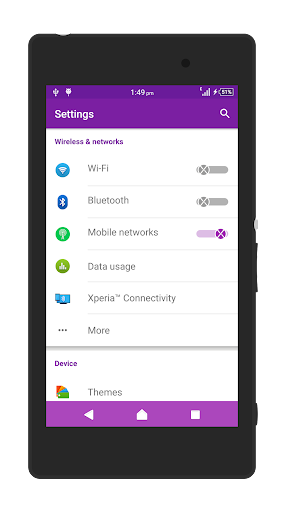 XNeon-Purple-Xperia Theme - screenshot