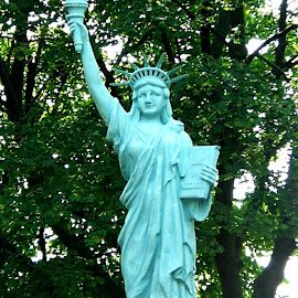 Statue Of Liberty 1 by RMC Rochester - Buildings & Architecture Statues & Monuments ( abstract, statue, nature, colors, art, random, architecture )