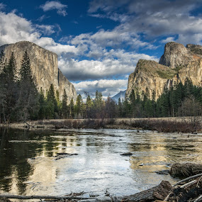 by Bud Walley - Landscapes Mountains & Hills ( park, yosemite, california, national, merced, sierra, valley, river )