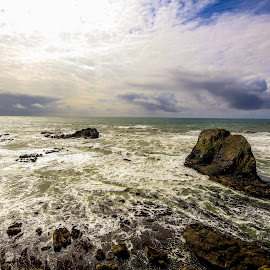 see the sea by Brandon Hemphill - Novices Only Landscapes ( water, oregon coast, ocean, rocks, ocean view )