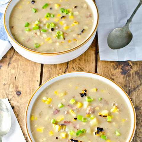 Grilled Corn and Bacon Chowder (dairy free)