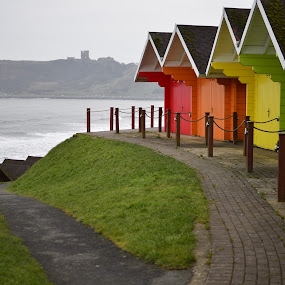 by Eloise Rawling - Buildings & Architecture Other Exteriors ( leading lines, colourful, beach huts, castle, beach )