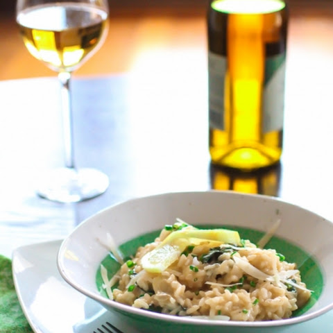 Lemon Spinach Artichoke Risotto