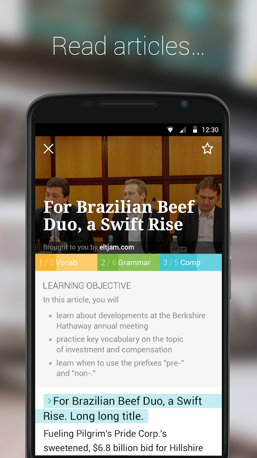 Business English - Newsmart Screenshot