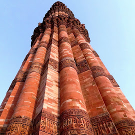 The Mighty Qutb Minar by Gautam Tarafder - Buildings & Architecture Statues & Monuments
