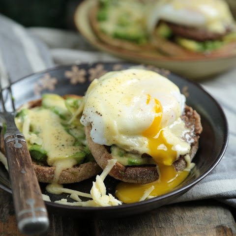 Turkey Sausage Avocado Benedict with White Cheddar Hollandaise