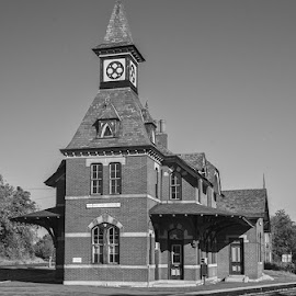 Point of Rocks Railroad Station by Stephen Majchrzak - Black & White Buildings & Architecture