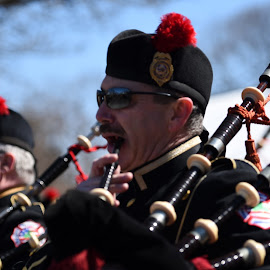 Bag Pipes  by Lorraine D.  Heaney - People Musicians & Entertainers