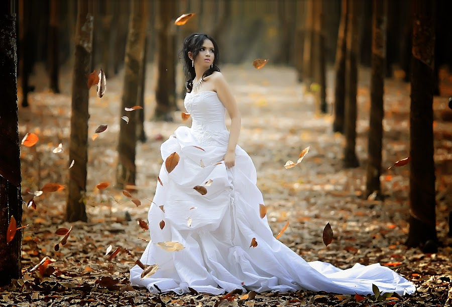 princess in autumn by Ichram Pakpahan - People Portraits of Women