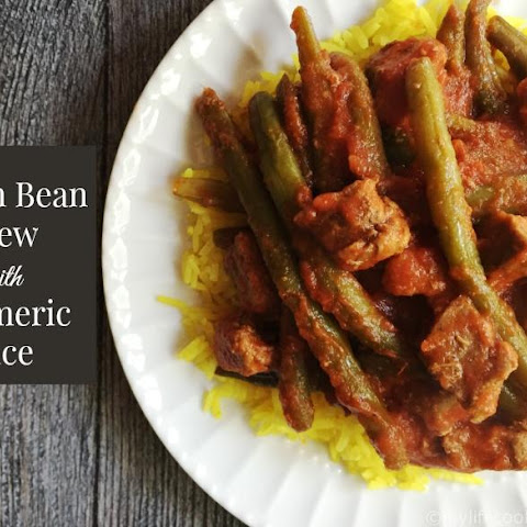 Green Bean Stew with Turmeric Rice