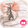 Download Cute Theme-Girly Eiffel Tower- APK for Laptop