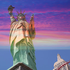 New York New York Hotel by Mill Tal - Digital Art Places