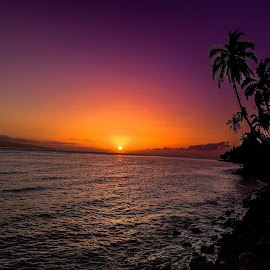 Hawaiian Sunset by Rick Pelletier - Novices Only Landscapes