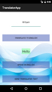 Translator App - screenshot