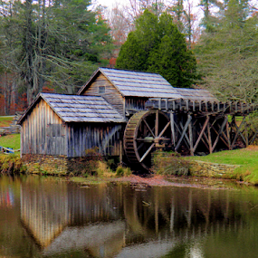 StoneMill by Teresa Wooles - Buildings & Architecture Public & Historical ( old buildings, maury stone mill, stone mill, north carolina,  )