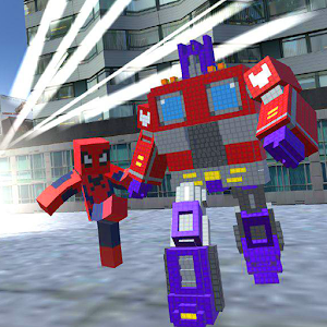 Craft Robot: Start Spider Hero War
