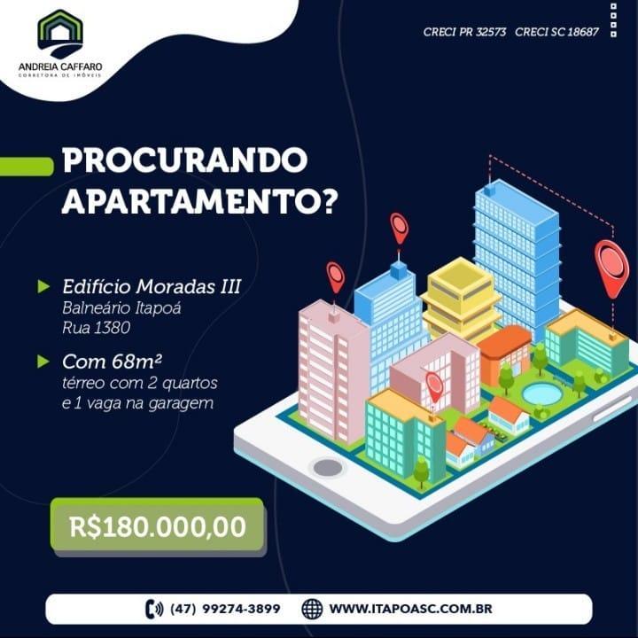 Apartamento com 2 dormitórios à venda, 68 m² por R$ 180.000 - Itapoá - Itapoá/SC