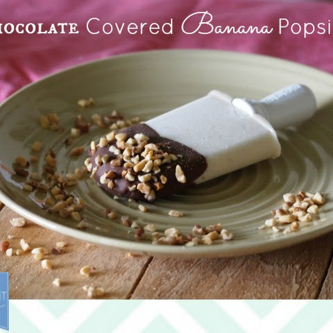 Chocolate Covered Banana Popsicle