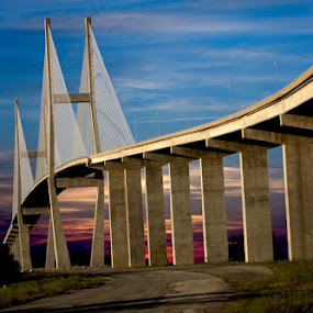 Sidney Lanier Bridge 2 by Carlos Holt - Buildings & Architecture Bridges & Suspended Structures ( holt, hdr, bridge )