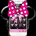 Free Pink Black Minny Bowknot Theme APK for Windows 8