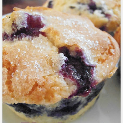 Bursting Blueberry Muffins