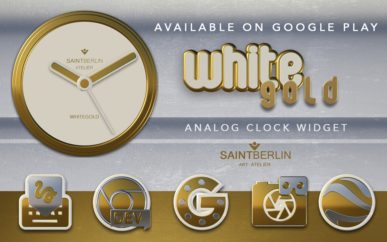Icon Pack White Gold 3D Screenshot 8
