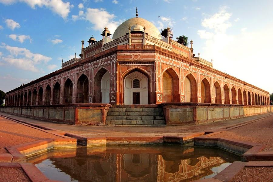 humayun's tomb by Saptarshi Mandal - Buildings & Architecture Public & Historical ( reflection, building, monument, india, architecture, historical )