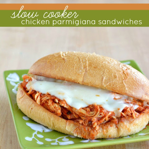 Slow Cooker Chicken Parmigiana Sandwiches
