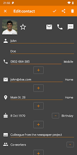 Simple Contacts Pro Screenshot