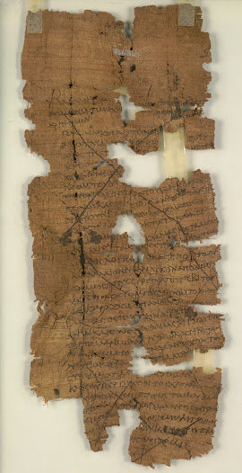 Financial systems rely on legal proof of debt and its repayment. This papyrus gives notice to the courts of a loan to a woman named Teteoris. The loan was financed by M. Longinus Castresius, whose names denote his elite status of Roman citizenship. It is crossed out to show repayment.