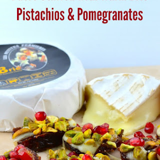 Warm Brie Stuffed Dates with Pistachios & Pomegranates