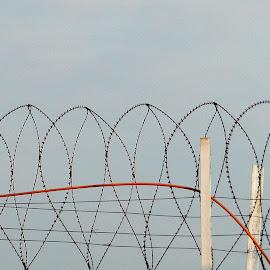 Wire fence by Govindarajan Raghavan - Artistic Objects Industrial Objects