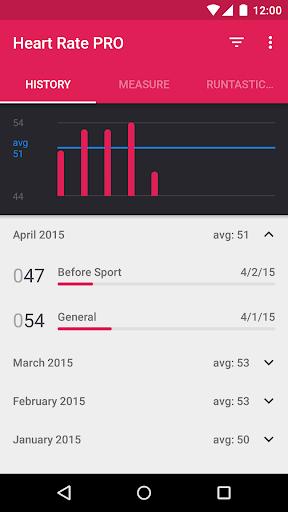 Runtastic Heart Rate PRO - screenshot