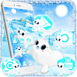 Cute Blue Aquarium Sea Seals Theme Icon