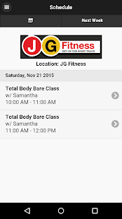 JGFITNESS - screenshot