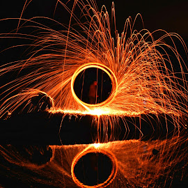 by Diane Green - Abstract Fire & Fireworks