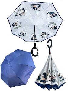 """Зонт """"Животные"""" Панда, молочный"""