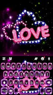 Neon Love Keyboard Theme for pc