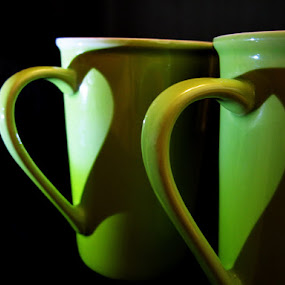 love team by Lolit Cabilis - Artistic Objects Cups, Plates & Utensils ( lighting, still life, art )