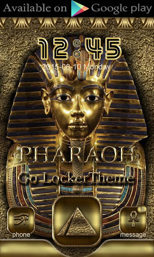 Pharaoh Go Launcher theme - screenshot