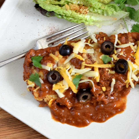 Turkey Enchiladas with Homemade Chili Gravy