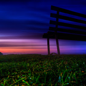 waiting  by Mohamad Sa'at Haji Mokim - Artistic Objects Furniture ( chair, tree, grass, sunset, furniture )