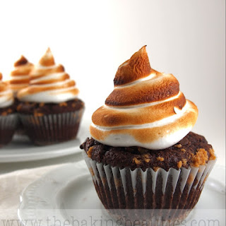 Gluten-Free S'mores Cupcakes with Toasted Marshmallow Frosting