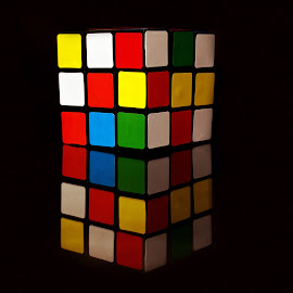 Color Puzzled by Bhattacharyya Avismita - Artistic Objects Toys ( puzzle, reflection, colorful, color, still life, beautiful )