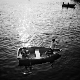 Lake by Jepanx Jepanx - People Street & Candids ( black and white, lake, landscape, bnw, people )